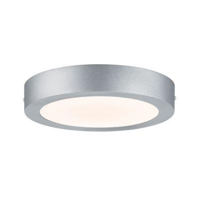 Runde LED Deckenleuchte 15,5W Panel Aluminium Chrom Matt Ø22,5x3,8cm 1520lm