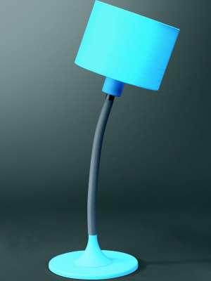 Tischleuchte Bertus Uni Blau
