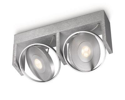 Philips Ledino LED Spot Deckenleuchte Alu Spotbalken Schwenkbar 2700K 2 Flammig