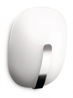 Chromfarbene Philips myLiving Wandleuchte Wandlampe Glas Silber inkl. 16W