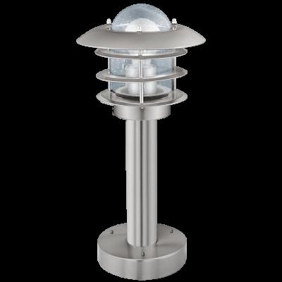 Eglo Sockelleuchte IP44 Edelstahl Glas Klar Höhe 40cm Außenleuchte IP44