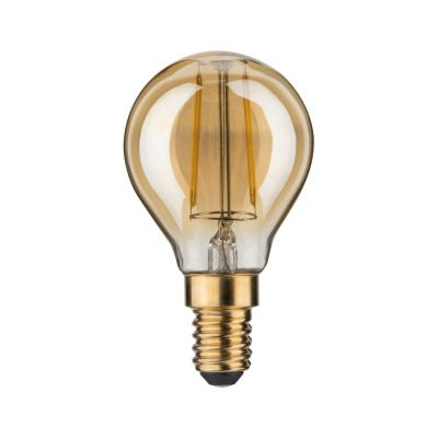 Paulmann LED Tropfen Lampe 230V E14 Leuchtmittel 2,5W Warmweiß Gold