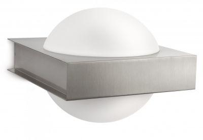 Philips Wandaussenleuchte Silber Edelstahl 2700K inkl. Leuchtmittel Glas