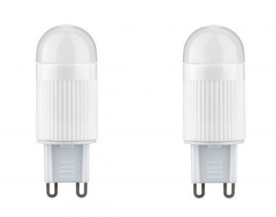 Paulmann LED 230V Stiftsockel G9 Leuchtmittel 2er Set je 2,4W Lampe Warmweiß 2700K