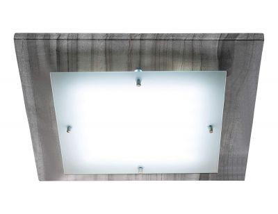 LED Deckenleuchte 16,8W/230V Acrylglas Marmor Anthrazit Eckig 40x40cm 2076lm
