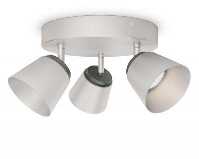 Philips LED Deckenleuchte 3x4,5W Metall Silber 990lm Schwenkbar 13,7cm Ø22cm