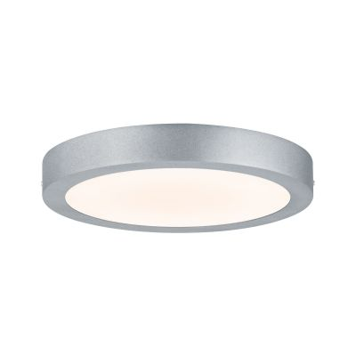 Flache Runde LED Deckenleuchte Panel Alu Chrom Matt 1700lm 17W 3,8cm Ø30cm