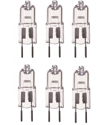 6er Set Halogen Leuchtmittel GY6,35 Sockel Halogenleuchtmittel 50W Lampe
