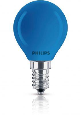 Philips Leuchtmittel Tropfenform E14 Kugel 15W Blau Glühlampe Partylight