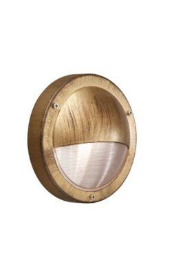 Wandaußenleuchte Zansibar 1xE27 60W Metall Gold 13cm Ø25,2cm IP44