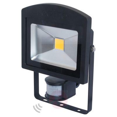 Ledino LED-Strahler Schwarz 20W Bewegungsmelder 3000K Alu IP44