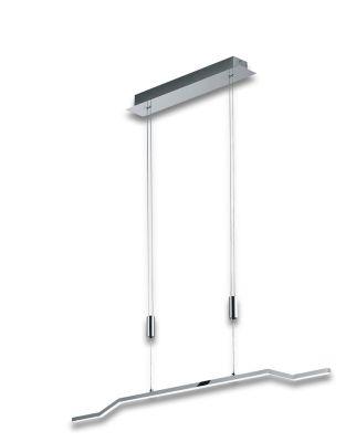 Deutsche LED Pendelleuchte Höhenverstellbar Chrom Glas Dimmbar 1800lm 20W 100cm
