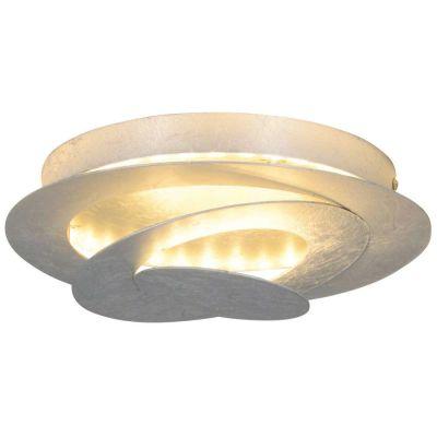 Runde Näve LED Deckenleuchte Silber Warmweiß Ø 24cm 560lm