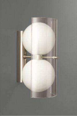 Halogen Wandleuchte Silber 2xG9 max.40W/230V Glas Metall 22,5x14,3x11cm