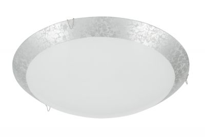 Deckenleuchte 1x LED 8,4W/230V Silber Glas 900lm 4000K Rund Ø30cm Höhe 9,5cm