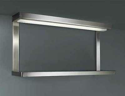 Küchenunterbauleuchte Ablage Schalter Stahl gebürstet 60cm Unterbau
