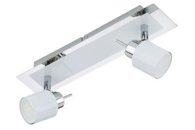LED Deckenleuchte Chrom Weiss 2 Flammig Drehbar Schwenkbar GU10