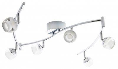 LED Spotleiste Deckenleuchte 6x5W/230V Chrom Metall  2148lm Warmweiß 180x11x19cm