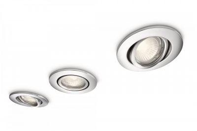 Halogen 3er Einbauset Badezimmerleuchte Metall Chrom Schwenkbar