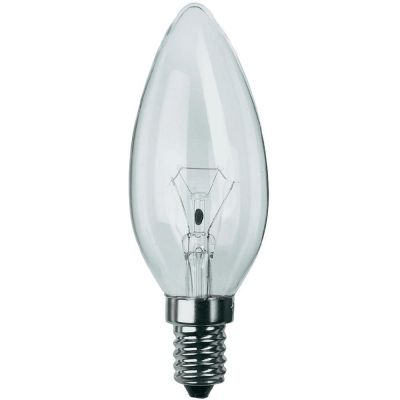 2 Stück Philips Leuchtmittel Kerzenform E14 Kerze 15W Klar Glühlampe Glühbirne
