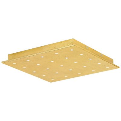 Große Eglo LED Deckenleuchte Blattgold Warmweiß 25 Flammig 47 x 47cm 2250lm