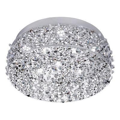 Honsel LED Deckenleuchte 8x2,3W Metall Glas Chrom Kristalloptik 2080lm Ø35cm