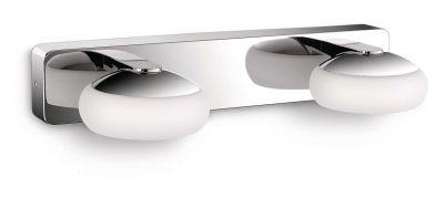 Philips LED Badezimmerlampe Silk 4x 2,5W 730lm Wandleuchte Spiegellicht Chrom