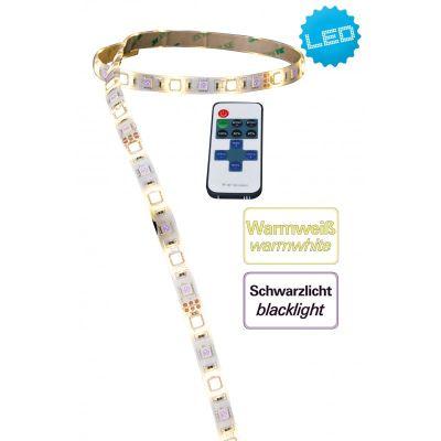 Näve UV-LED Stripe 3m Schwarzlicht IP65 Lichtschlauch 35W Kürzbar Fernbedienung