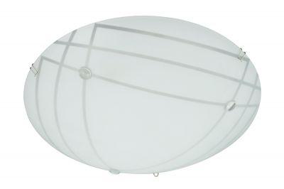 Briloner Deckenleuchte 1x LED 12W/230V 1200lm 3000K Weiß/Grau Glas Rund Ø30cm