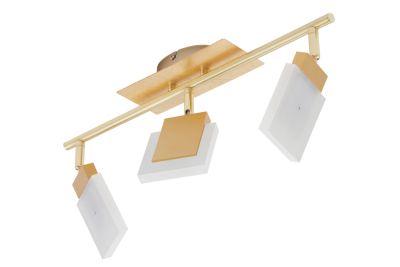 Briloner Deckenleuchte 3x LED 4,5W/230V Gold Metall 1350lm Warmweiß Schwenkbar