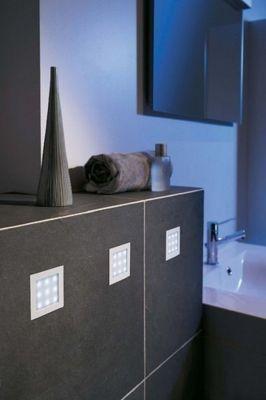Badezimmerleuchte LED Einbauset Weiß Metall 3er Set IP65
