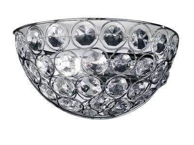 Wandleuchte Glasprismen Klar Chrom Metall 1xE14 max. 40W/230V 11x21x13cm