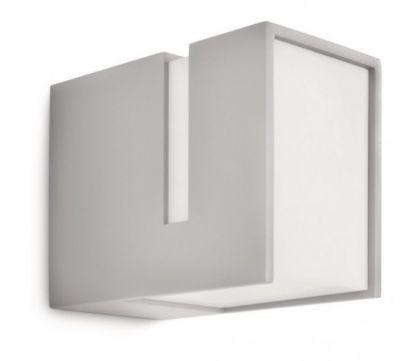 Philips Energiespar Wandaußenleuchte Grau 1350lm Aluminium E27 IP44