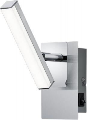LED Deckenleuchte 4,5W/230V Nickel Matt Verstellbar Schalter 430lm 3000K