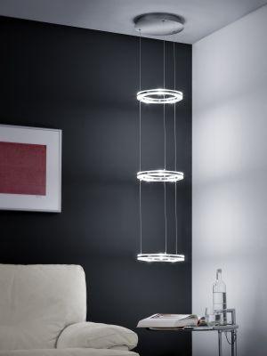 Ein LED Deckenleuchte der Extraklasse. Diese LED Hängeleuchte von Bankamp mith ihre 3 stilvollen LED-Ringen ist ein wahrer Hingucker