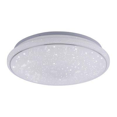 LED Deckenleuchte Sternenoptik Fernbedienung Farbwechsler Dimmbar Ø 44cm